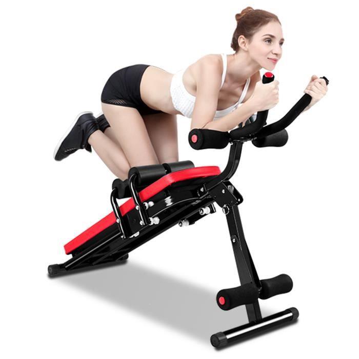 BIGZZIA Banc de Musculation Multifonction Abdominaux, Appareil de Fitness Sport Pliable