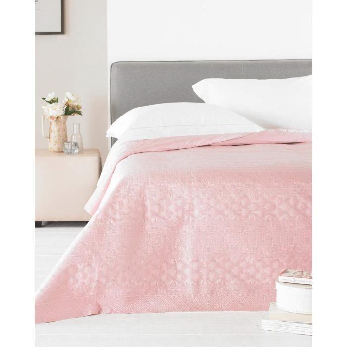 Dessus de Lit Zara 240 x 260 cm Double King-Size Bed – Satin Rose