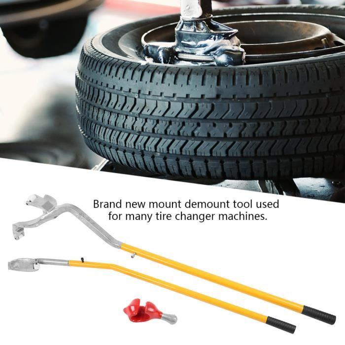 Outil de démontage de pneu, 3pcs monte-pneu démonte-pneu de roue de voiture en aluminium kit de réparation d'outils HB037