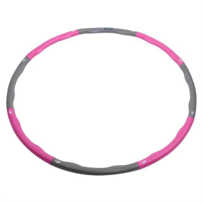 yapidgbuy® Rentable Hula Hoop pour adulte Fitness amovible éponge en mousse massage Hula - hoop amovible en mousse