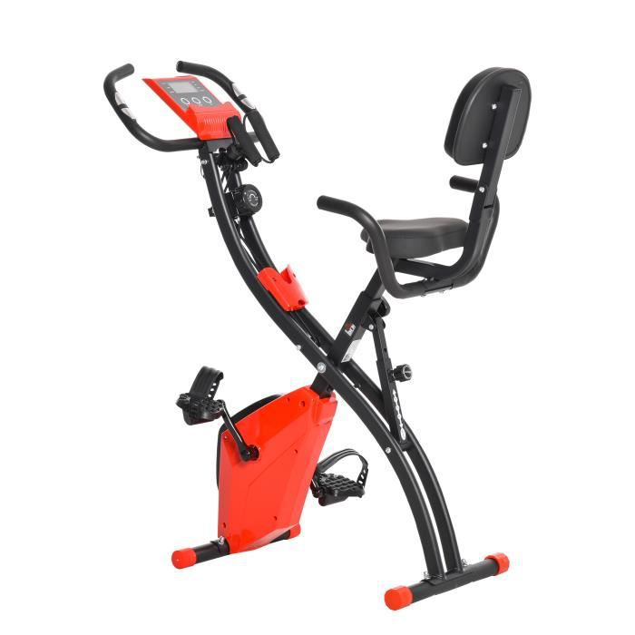 Vélo d'appartement cardio Fit 97x51x115cm Rouge