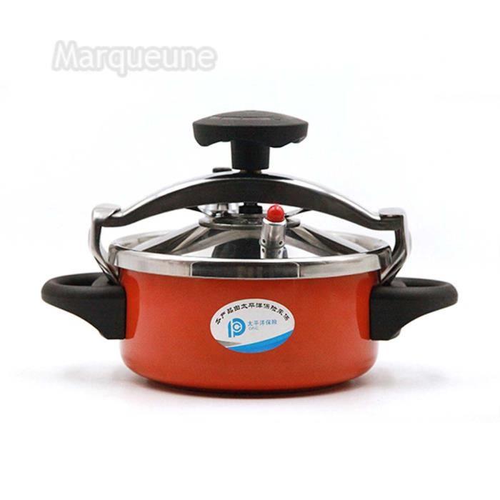 Autocuiseur Marqueune - mini - Acier Inoxydable, Capacité :2 L (Orange)