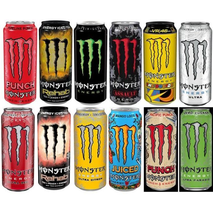Monster Energy Drink Set différentes variétés boîtes 12 x 0,5 litre