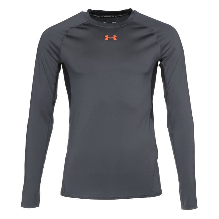 UNDER ARMOUR T-Shirt manches longues - Homme - Gris