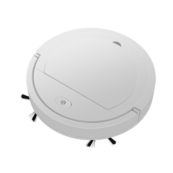 Robot de nettoyage de sol compact rechargeable de machine de nettoyage de sol (blanc)