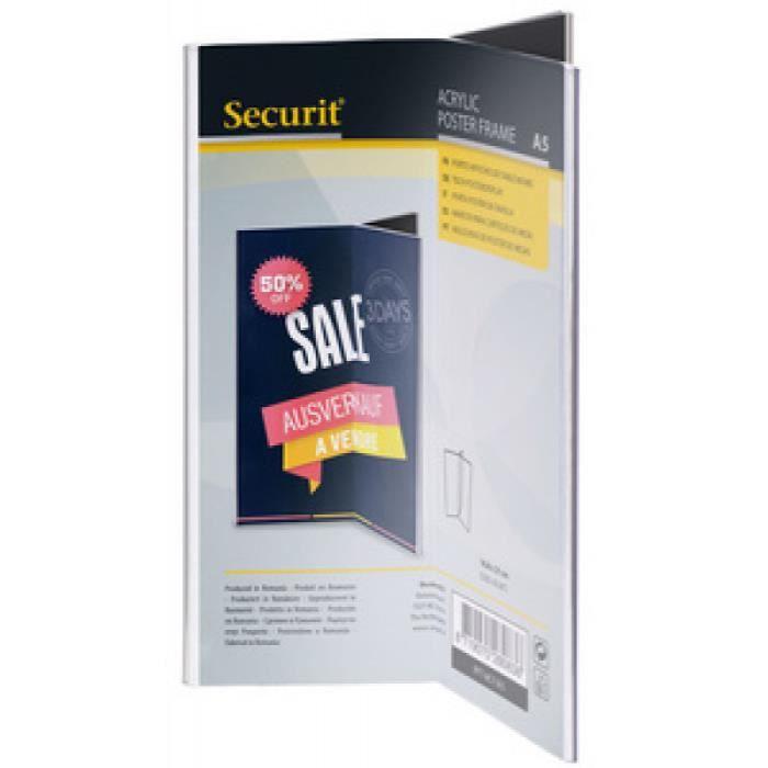 securit securit ardoise de table acrylic, a5 portrait, trilatéral noirPapeterie - Fournitures Securit Ardoise de table ACRYLIC,