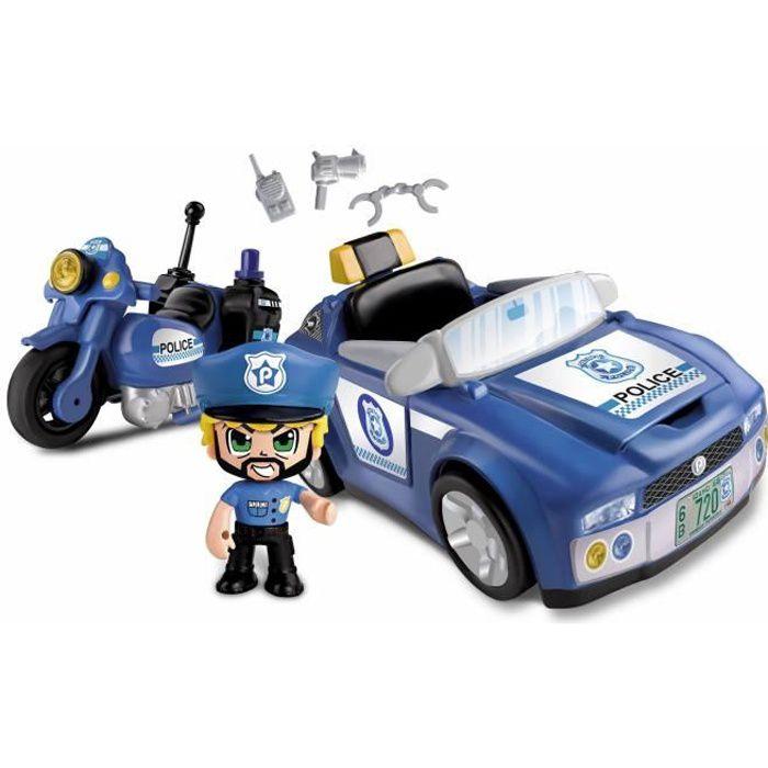 Pinypon Action - La super voiture de police - 1 figurine incluse