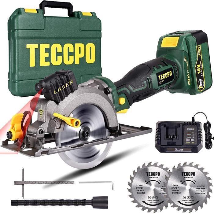 TECCPO 18V Scie Circulaire sans Fil une 4.0Ah Batterie - TDMS22P