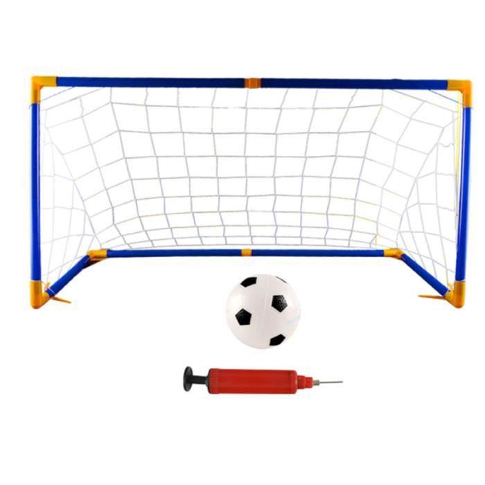1 ensemble de porte de football d'assemblage de but de bricolage filet de de à la main pour CAGE DE FOOT - BUT DE FOOTBALL