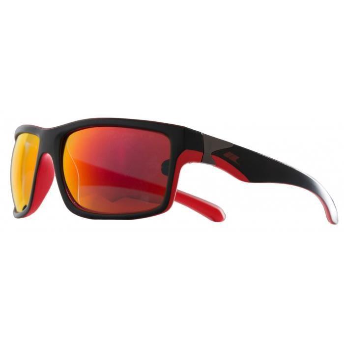 lunettes Dropde soleil unisexes noir mat/rouge