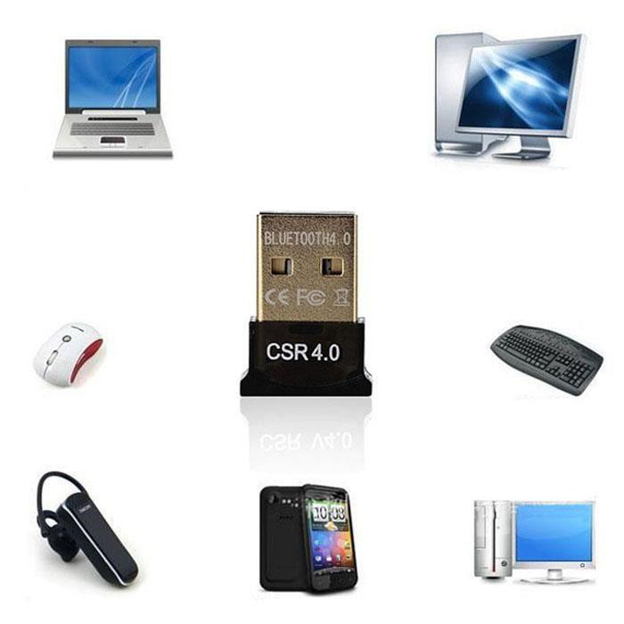 ADAPTATEUR BLUETOOTH Mini USB Bluetooth v 4.0 dongle Dual Mode adaptate