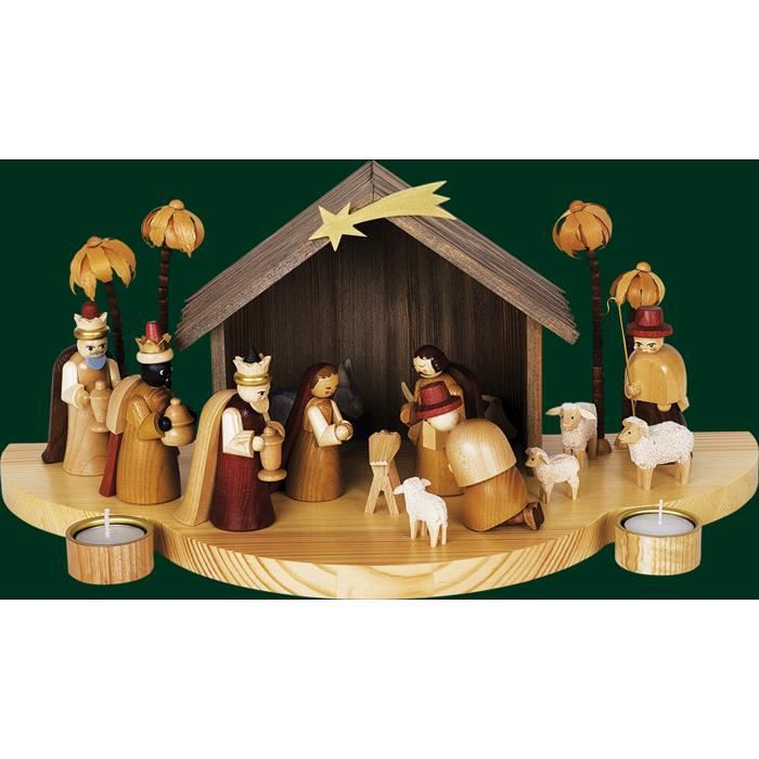 Decoration de no l cr che 8 po achat vente d cors de for Achat decoration de noel