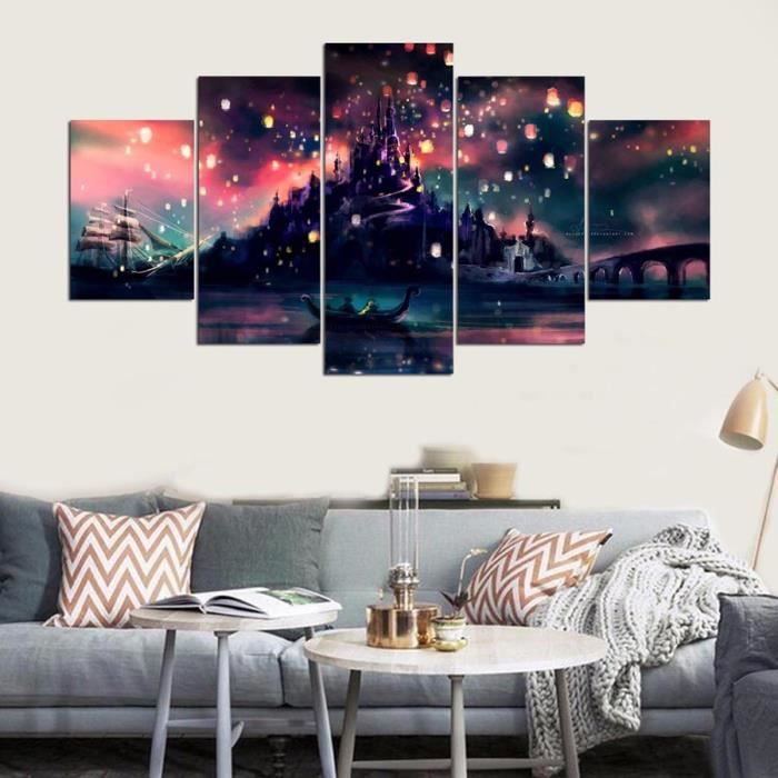 5 panneau harry potter poudlard peinture l 39 huile style for Decoration maison harry potter
