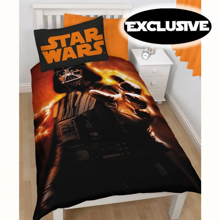 parure de lit couette 2 taies star wars dark vador achat vente parure de couette cdiscount. Black Bedroom Furniture Sets. Home Design Ideas