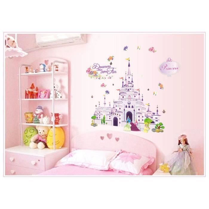 stickers chateau disney achat vente stickers chateau disney pas cher cdiscount. Black Bedroom Furniture Sets. Home Design Ideas