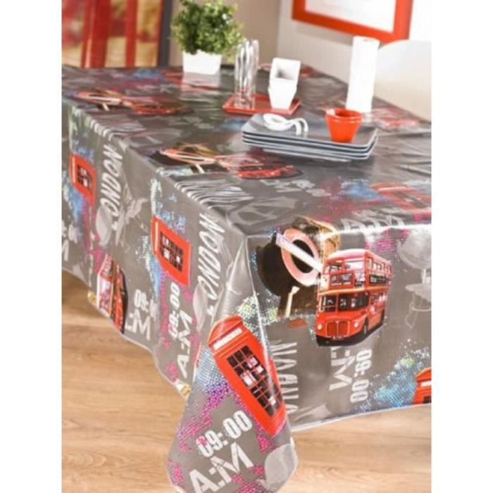 nappe en toile cir e ovale 180x240 cm underground british achat vente nappe de table cdiscount. Black Bedroom Furniture Sets. Home Design Ideas