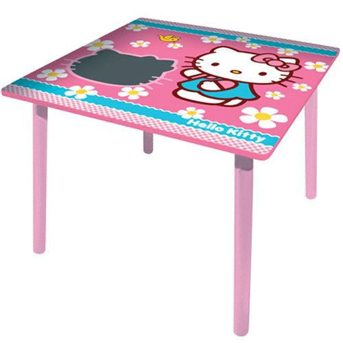 Table chaise hello kitty images for Table carree et chaises