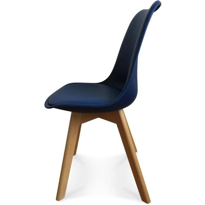chaises scandinaves bleu achat vente chaises scandinaves bleu pas cher cdiscount. Black Bedroom Furniture Sets. Home Design Ideas