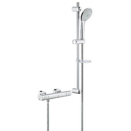 Grohe 27379000 Ensemble De Douche Rainshower Icon 100 Avec Barre De