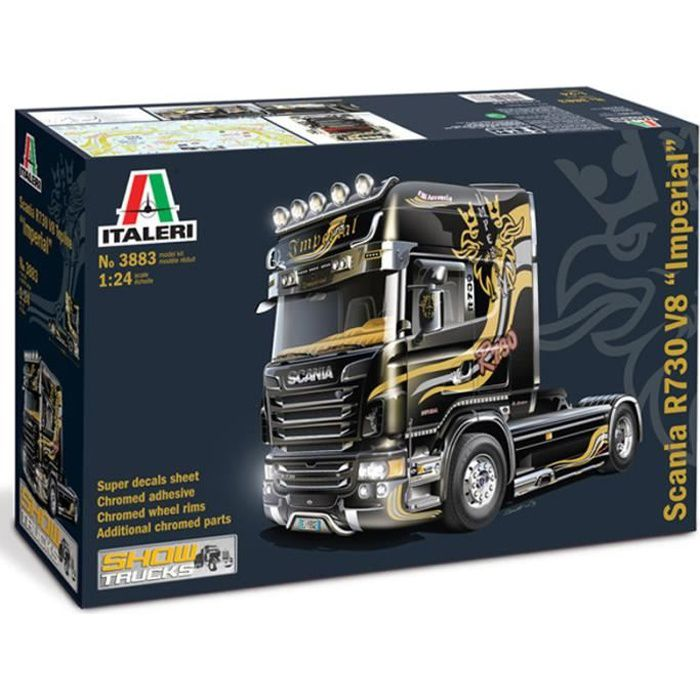 maquette camion 1 24 scania r730 v8 imperial achat vente voiture construire cdiscount. Black Bedroom Furniture Sets. Home Design Ideas