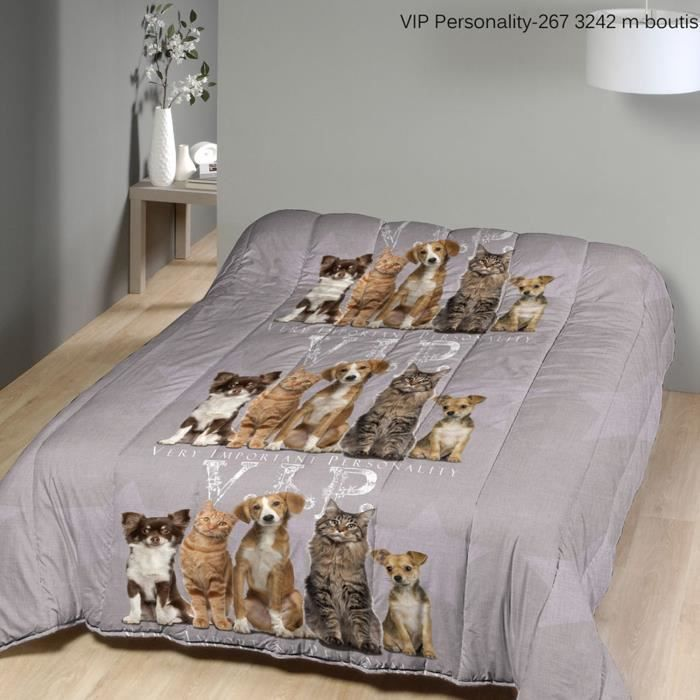 couette 240x220 chiens et chats imprim e simple achat. Black Bedroom Furniture Sets. Home Design Ideas