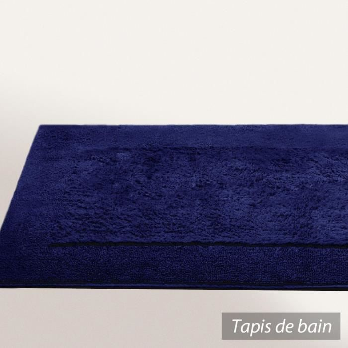 tapis de bain 70x120 cm dream bleu marine 2000 achat vente tapis de bain cdiscount. Black Bedroom Furniture Sets. Home Design Ideas