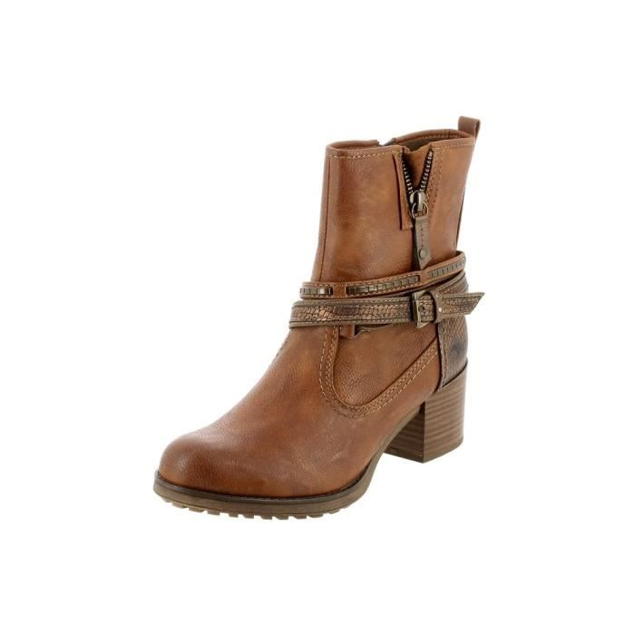 bottines / low boots 1231501 femme mustang 1231501 marron - achat