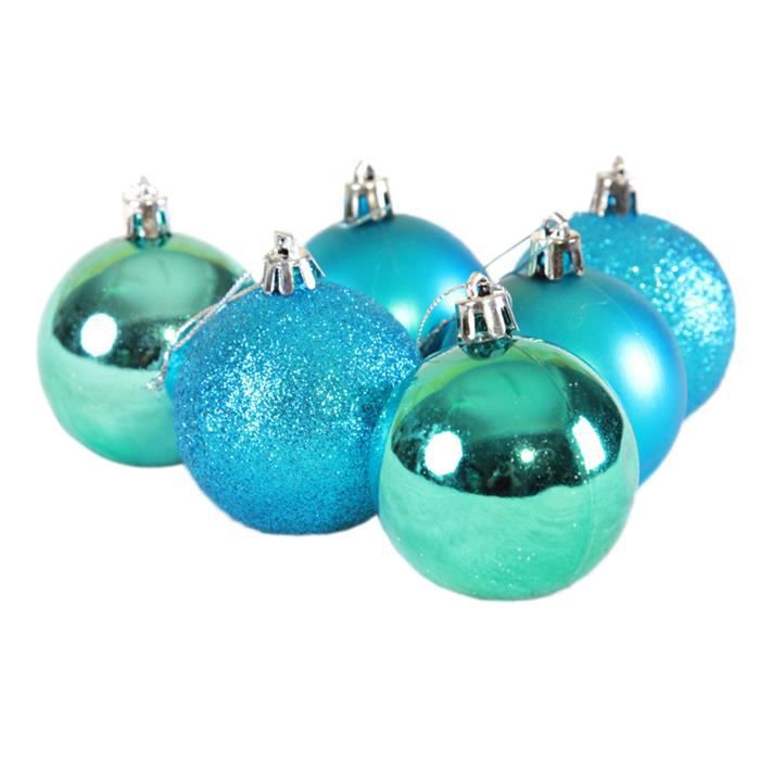 6pcs boules suspension no l d coration sapin or achat for Achat decoration de noel