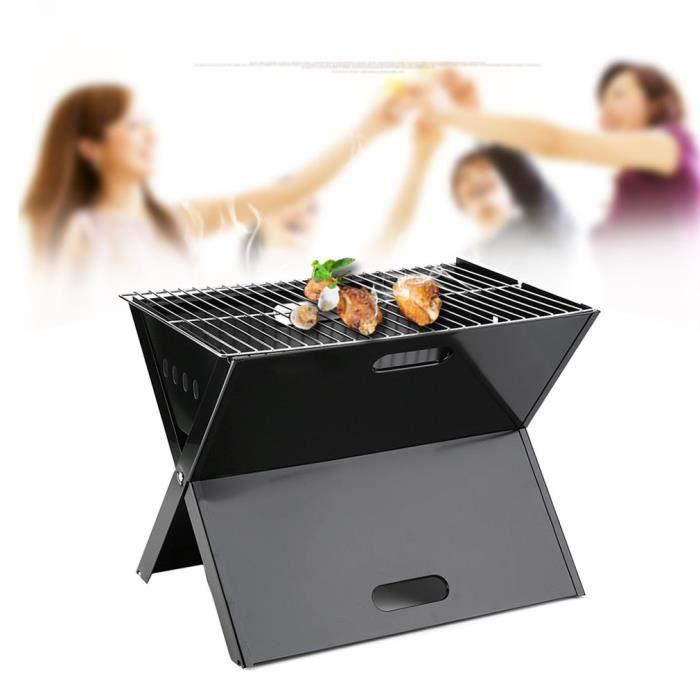 BARBECUE DE TABLE Grille barbecue pliable 45cm x 28cm sur pied Campi