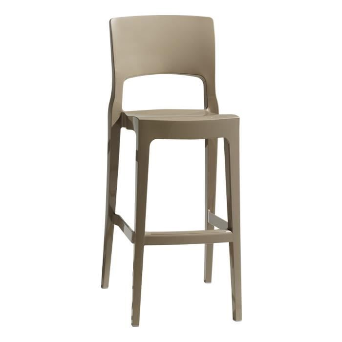 tabouret de bar design gris tourterelle isy antishock. Black Bedroom Furniture Sets. Home Design Ideas