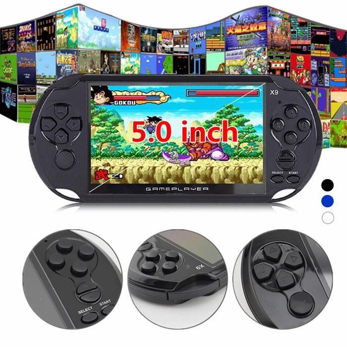 CONSOLE RÉTRO X9 5.0Pouce 8G Portable Rétro Console de Jeu Vidéo