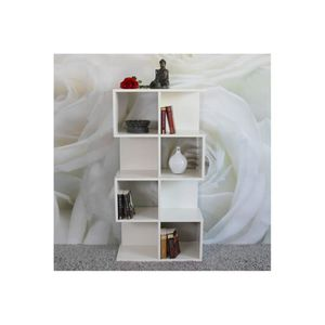 bibliotheque design blanche achat vente bibliotheque. Black Bedroom Furniture Sets. Home Design Ideas