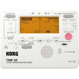 ACCORDEUR KORG Accordeur/Métronome /Enregistreur TMR50 blanc