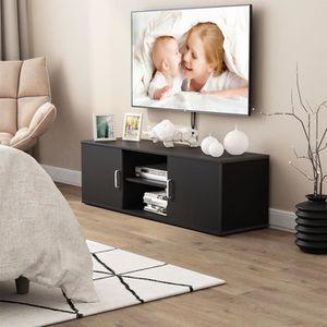 MEUBLE TV LANGRIA Meuble TV (120x40x40cm) moderne avec 2 Por