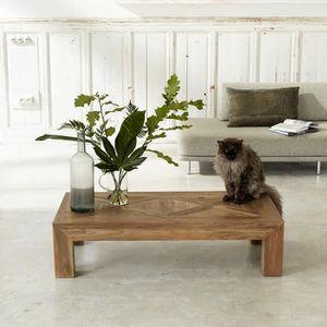 TABLE BASSE Table basse en bois de teck recyclé 120