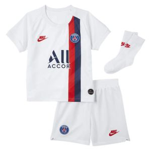 TENUE DE FOOTBALL ENSEMBLE NEWS PARIS PSG JUNIOR BEBE BLANC TOP 2019