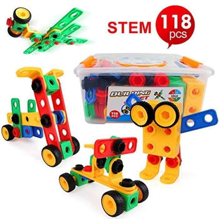 Jeu D'Assemblage XQWQM démontez jouet pour filles de 4 ans, jouets de construction pour3 4 5 6 7 8 9 ans, cadeaux pour enfants, bloc