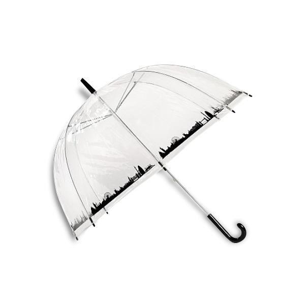 Parapluie transparent : ville insolite love.