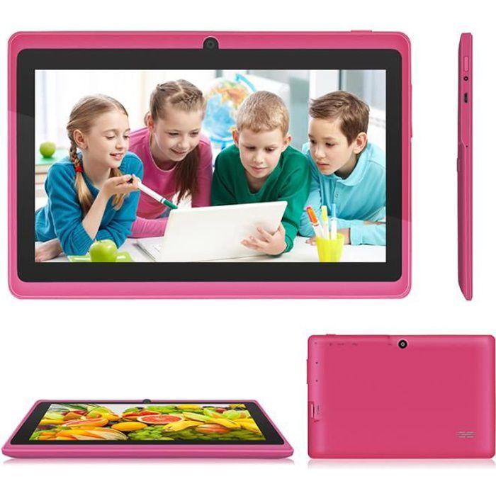 Tablette tactile PC Q88 7 pouces HD 8Go Rose pour enfants