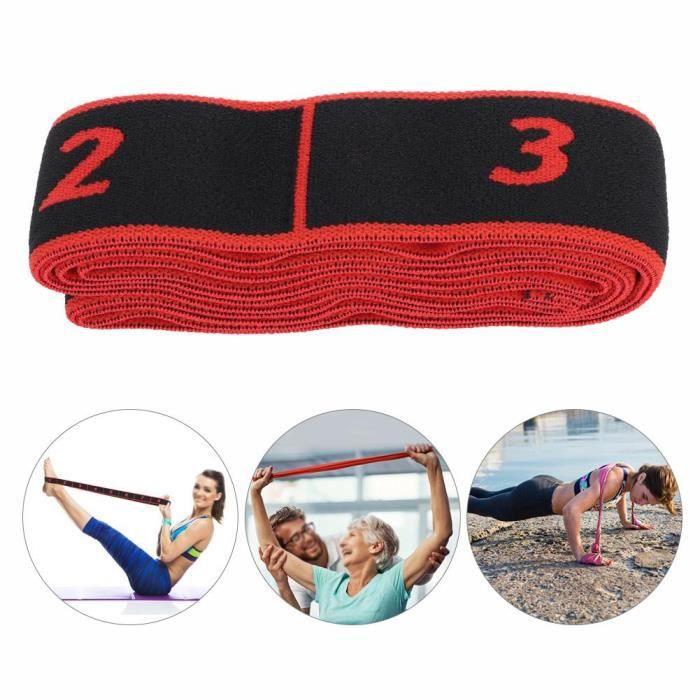 Fitness Elastic Bands Resistance Belt Yoga Sling Accessoire d'exercice pour la formation (rouge)-GUA