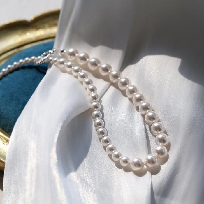 Perle Collier De Perles Artificielles _Blanc