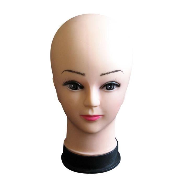 Tête de mannequin femme affichage de chapeau perruque torse PVC tête d'entraînement modèle tête modèle Perruque 1690