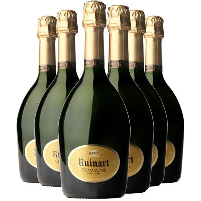 Lot de 6 Champagnes Ruinart Brut