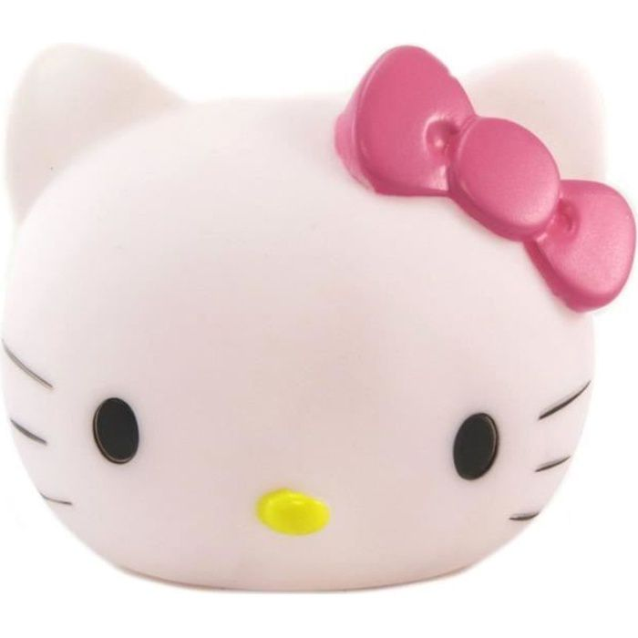 Lampe veilleuse 3D 'Hello Kitty' blanc rose - 11x10x9.5 cm [P6483]