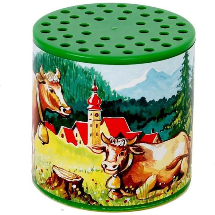 Jouet ancien voix de vache boite a meuh qui meugle comme une vache jouet retro