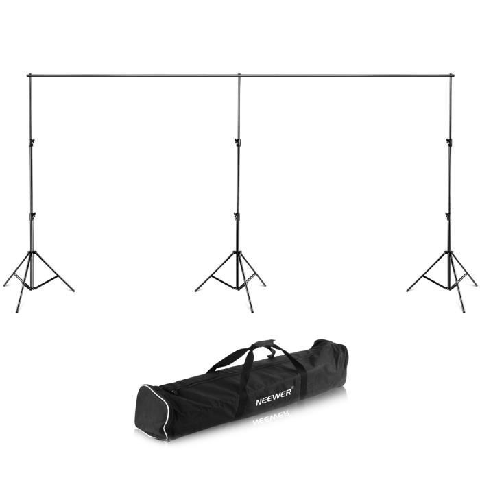 Neewer® 24 Ft -6m Large, 10ft -2.7m Haute Toile de Fond Support Système Trépied avec Détachables Barres Transversales avec Étui d