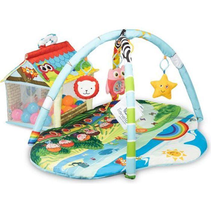 LIONELO Tapis d'éveil avec arches et piscine à balle Multicolor