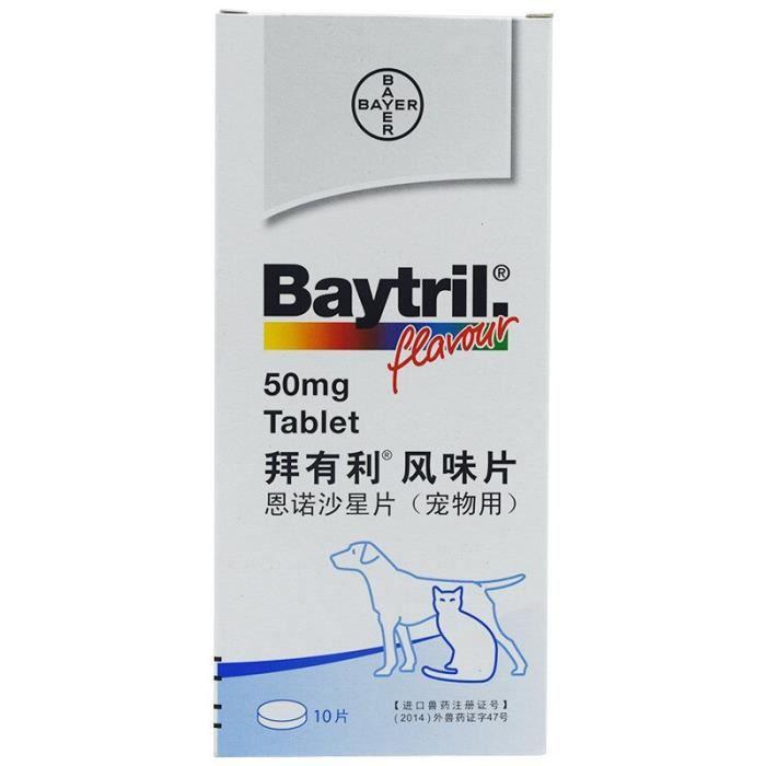 Sac de proprete excrements,Baytril 15-50mg comprimés aromatisés - Type 50mg-10pcs