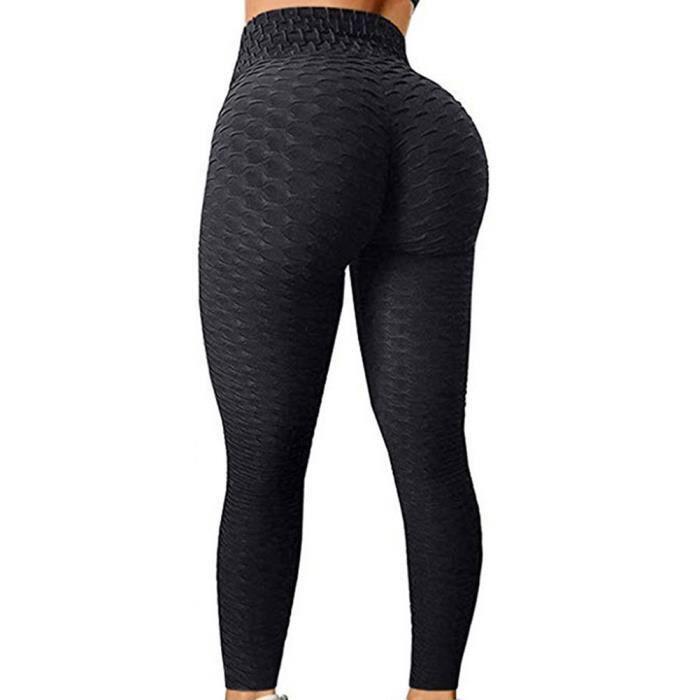 Femmes Yoga Leggings taille haute Butt Lift Tummy contrôle Gym Sports Stretchy Pants M