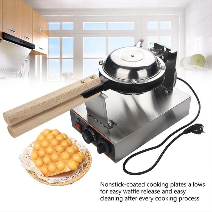 110V-220V Gaufrier Electrique Oeuf Gâteau Four QQ Egg Waffle Baker Maker Machine